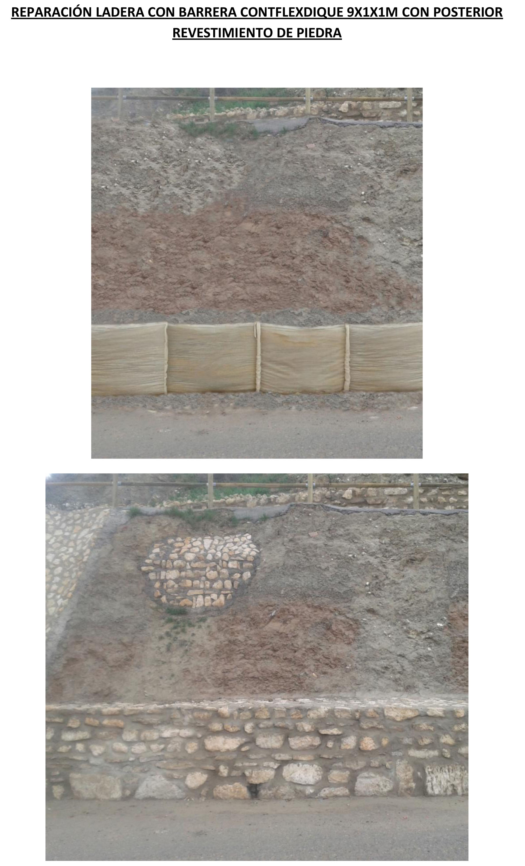 حاجز REPAIR CONTFLEXDIQUE 9X1X1M HILLSIDE مع backcoating STONE